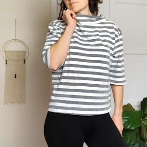 Anthropologie t.la Cozy Striped Sweater M